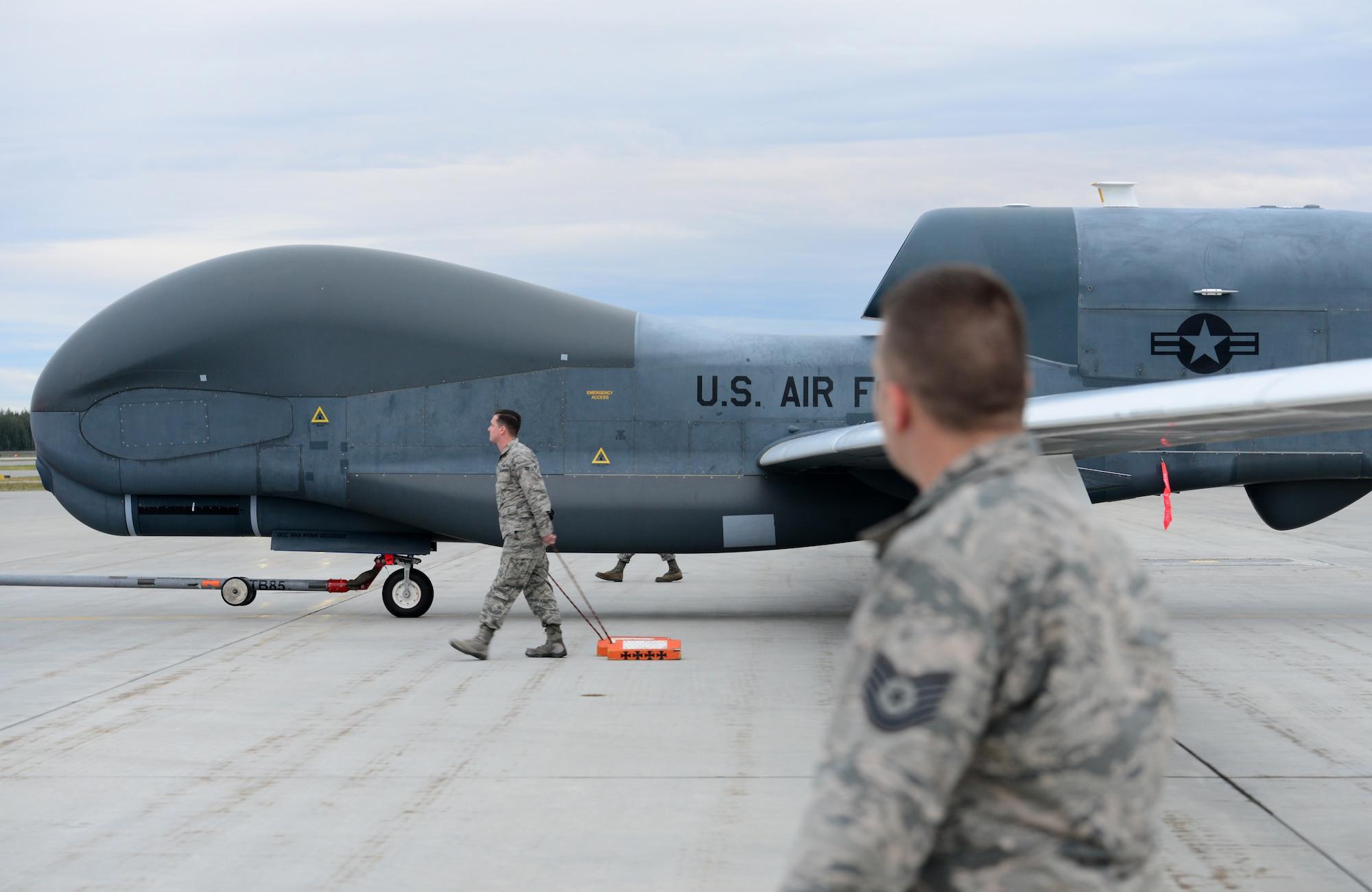 Global Hawk makes historic first landing at RED FLAG Alaska