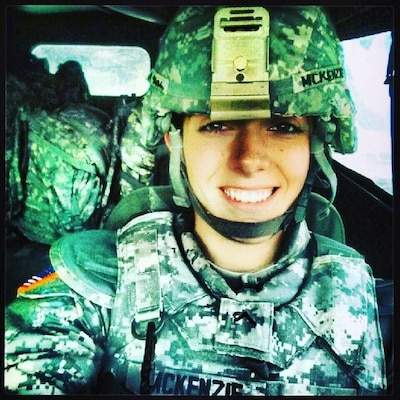 New York Army National Guard Spc.  Nicole McKenzie, shown here in a personal photo, a member of Company sA, 101st Expeditionary Signal Battalion, used her combat life saver skills to help save the life of a 12-year old boy who jumped from an overpass in Yonkers, N.Y. on August 3, 2018.
