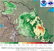 A weather system that has already seen rainfall totals from 2 to 6 inches across eastern Nebraska and western Iowa is causing increased river stages along the Missouri River and tributaries in the area.