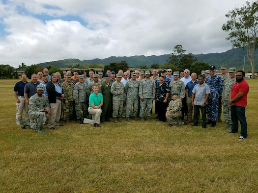 Air Force Operational Energy participated in the Air Force Global Engagement 2018 war games at Schofield Barracks, Hawaii in July 2018 to insert more realistic energy logistics scenarios and solutions into wargaming.