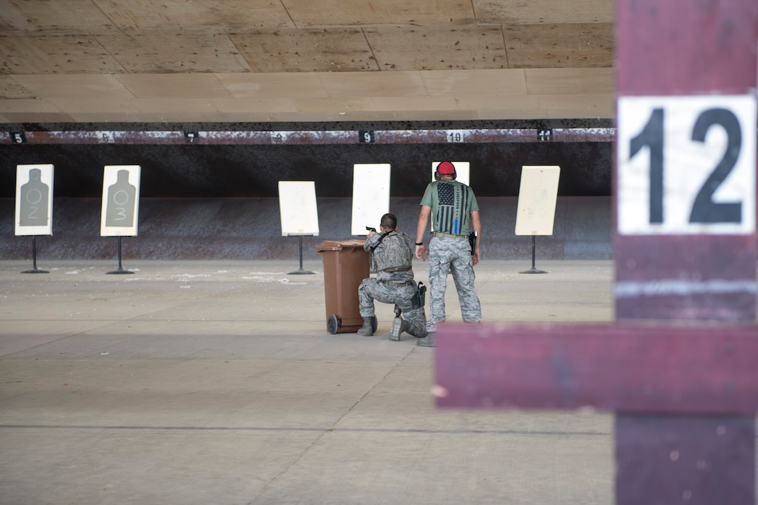 Airmen perform shooting maneuvers at CATM
