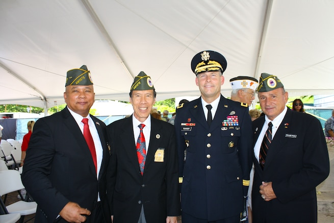 USACE Pacific Ocean Division Commanding General honors POWs during memorial stone dedication