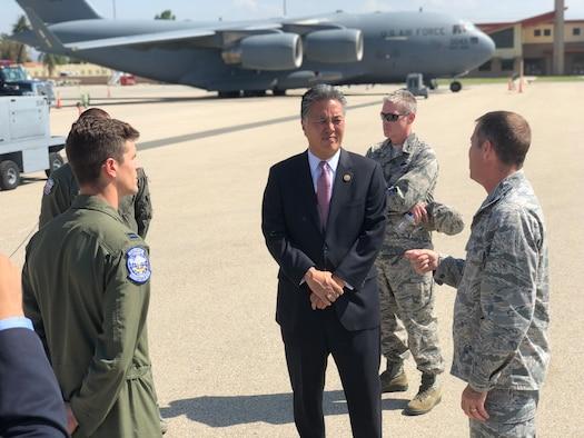 U. S. Congressman Mark Takano visits March