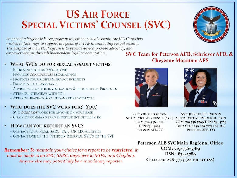 ADC SVC Counsel support legal law 50th Space Wing 21st Space Wing court-martial advice