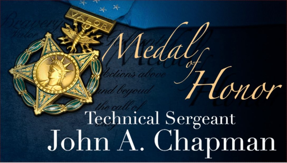 Medal of Honor graphic with text of recipients name.