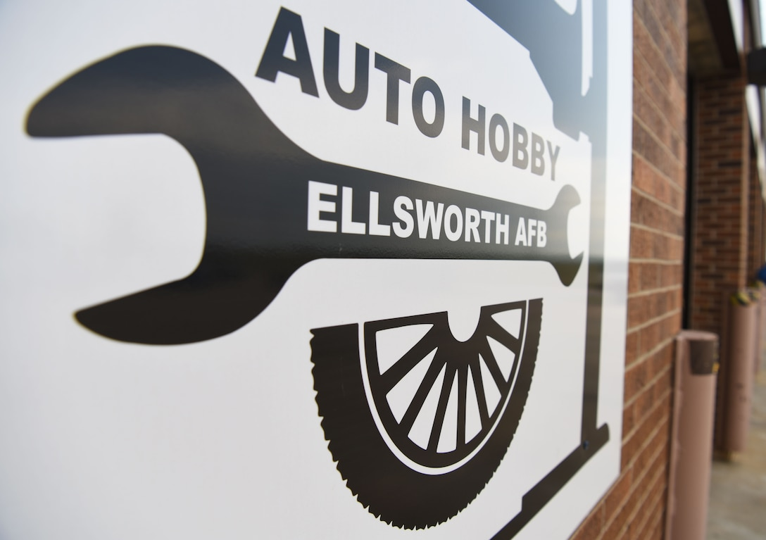 The auto hobby shop is open Tuesday-Saturday from 10 a.m. to 7 p.m. and is here to help Airmen and their families with their automotive needs at Ellsworth Air Force Base, S.D., Aug. 15, 2018. The hobby shop will be undergoing renovations to modernize the shop with an installation of new floors, garage doors and upgraded tools. (U.S. Air Force Photo by Airman 1st Class Thomas Karol)