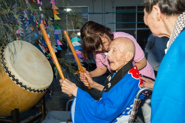 Air station residents attend Bon Odori Festival