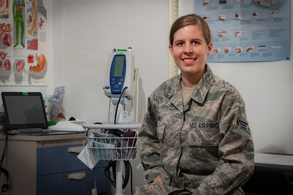 Portrait of Senior Airman Britni Jones, 130th Airlift Wing Medical Technician.