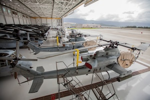 Marines secure vehicles, aircraft and equipment prior to Hurricane Lane's arrival at Marine Corps Air Station Kaneohe Bay, Hawaii, Aug. 22, 2018. Marine Corps photo by Sgt. Jesus Sepulveda Torres