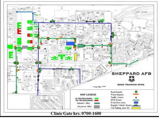 HHH 2018 route through Sheppard AFB