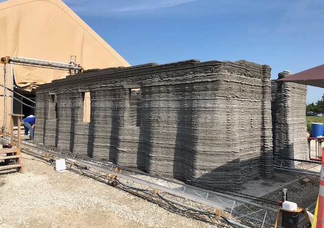MCSC teams with Marines to build world's first continuous 3D-printed concrete barracks