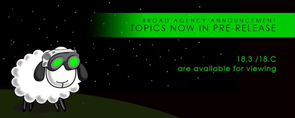 BAA Topics now in pre-release
