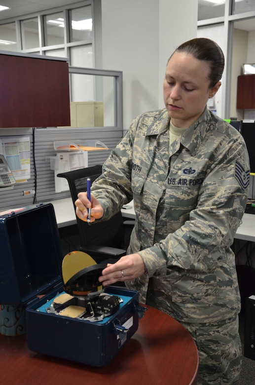 When the Air Force Technical Applications Center celebrated National Pi Day on March 14, Tech. Sgt. BreAnne Groth's section was amazed when the noncommissioned officer in charge picked up a dry-erase marker and began writing out Pi in decimal form from memory. With ease, she surpassed 100 decimal points and stopped only because she ran out of room on the white board and had to get back to work.