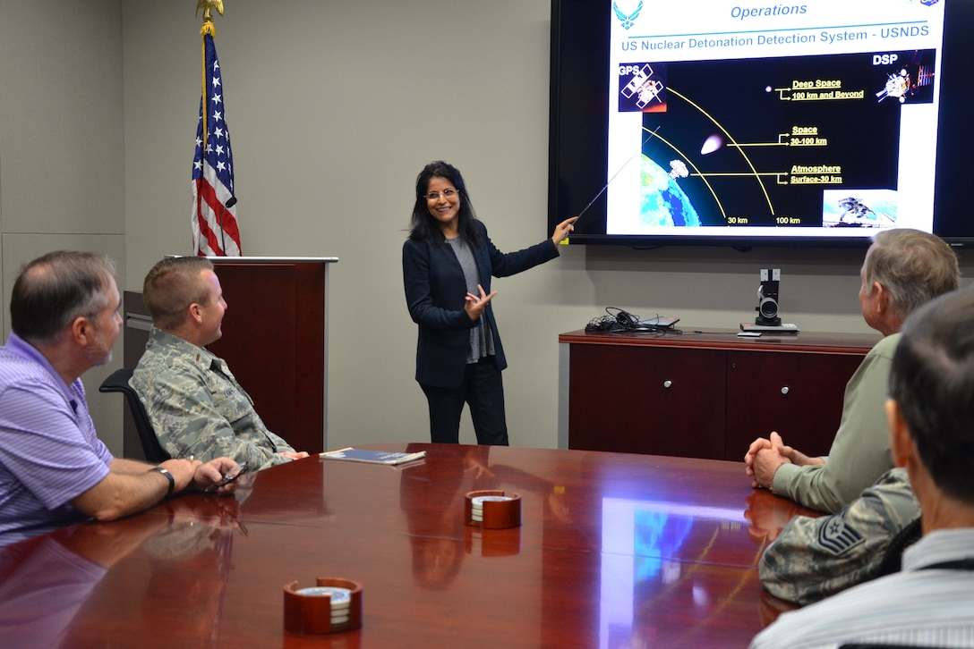 One of only four women in her squadron, Parveen Kapoor is the chief of the Atmosphere and Space Operations Flight within the 23rd Analysis Squadron at the Air Force Technical Applications Center. She leads a flight comprised of military and civilian scientists, mathematicians, engineers and technicians responsible for the operation and maintenance of the U.S. Nuclear Detonation Detection System.