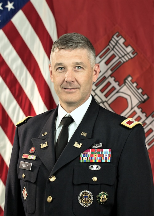 Photo of Colonel Andrew Kelly is the Commander and District Engineer of the U.S. Army Corps of Engineers, Jacksonville District. Colonel Kelly assumed command on August 24, 2018.