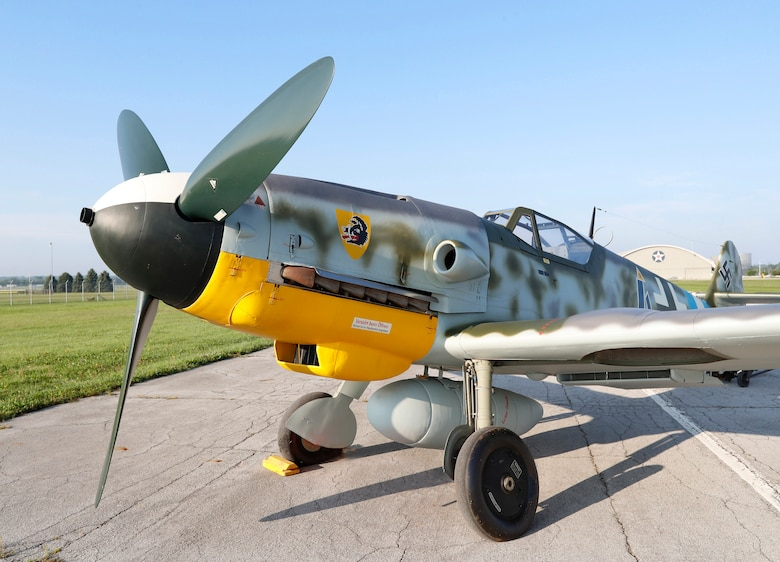 Messerschmitt Bf 109G-10 at the National Museum of the United States Air Force. The museum's Bf 109G-10 is painted to represent an aircraft from Jagdgeschwader 300, a unit that defended Germany against Allied bombers during WWII. (Courtesy photo by Don Popp)