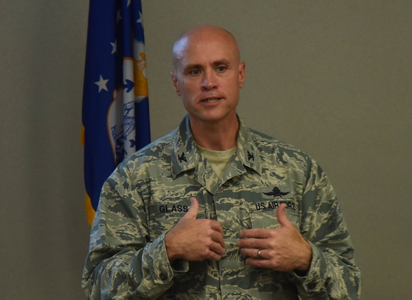 Col. Jason Glass, the Assistant Adjutant General of Tennessee for Air, conducted an air commanders workshop at the 118th Wing in Nashville, Tenn. on July 18, 2018.