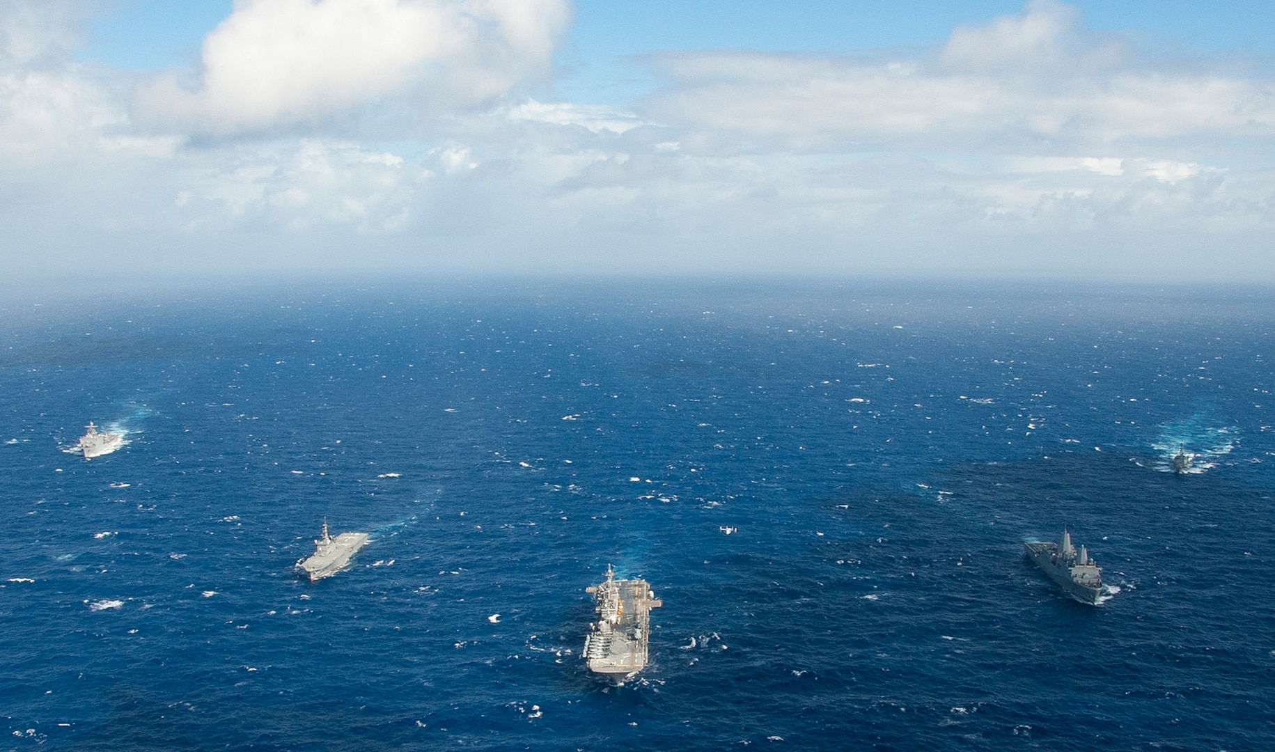 Wasp ARG Conducts PASSEX with JMSDF