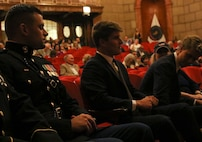 INDIANAPOLIS - On August 25, 2018, Senator Evan Bayh's son, Beau Bayh, took his oath to join the ranks of the world's finest fighting force in Indianapolis. Bayh will now proceed to OCS to earn his commission as an officer in the U.S. Marine Corps. His twin brother, Nick Bayh, swore his oath to join the ranks of the U.S. Army.