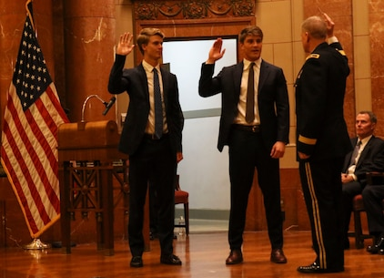 INDIANAPOLIS - On August 25, 2018, Senator Evan Bayh's son, Beau Bayh, took his oath to join the ranks of the world's finest fighting force in Indianapolis. Bayh will now proceed to OCS to earn his commission as an officer in the U.S. Marine Corps.
