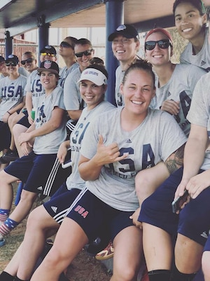 U.S. Armed Forces Women's Softball Team Members