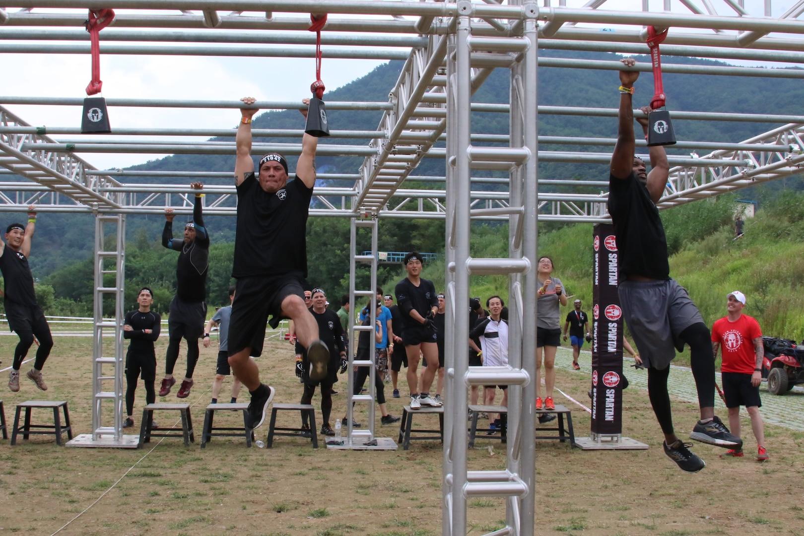 Senior leaders build camaraderie during Spartan