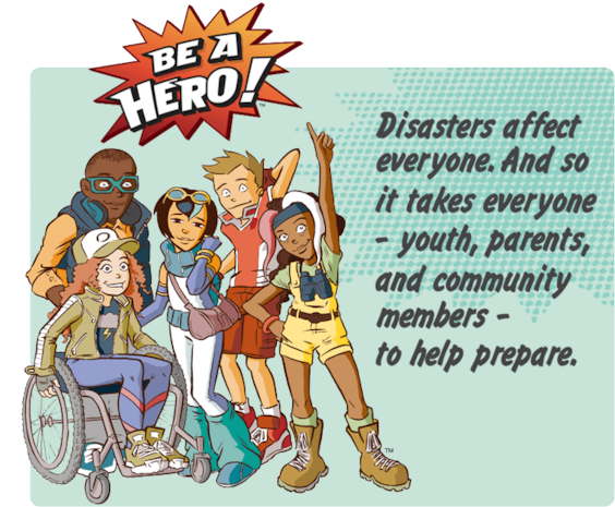 Help the Heroes! Will you know what to do? Make the right decisions and earn points to unlock new levels. But watch out! The wrong choice could end the game. Survive all 7 levels plus a turn in the hot seat and become a Disaster Master! Print out chapters of your own graphic novel as you play.