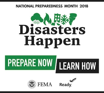 National Preparedness month engaging messages,  for specific social media platforms.