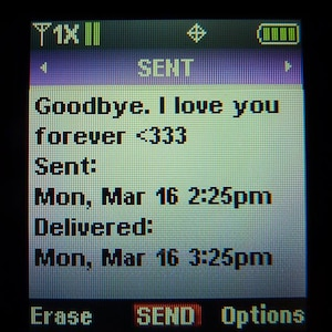 The last text sent out from Chelsea Rae Bowen was to her boyfriend.