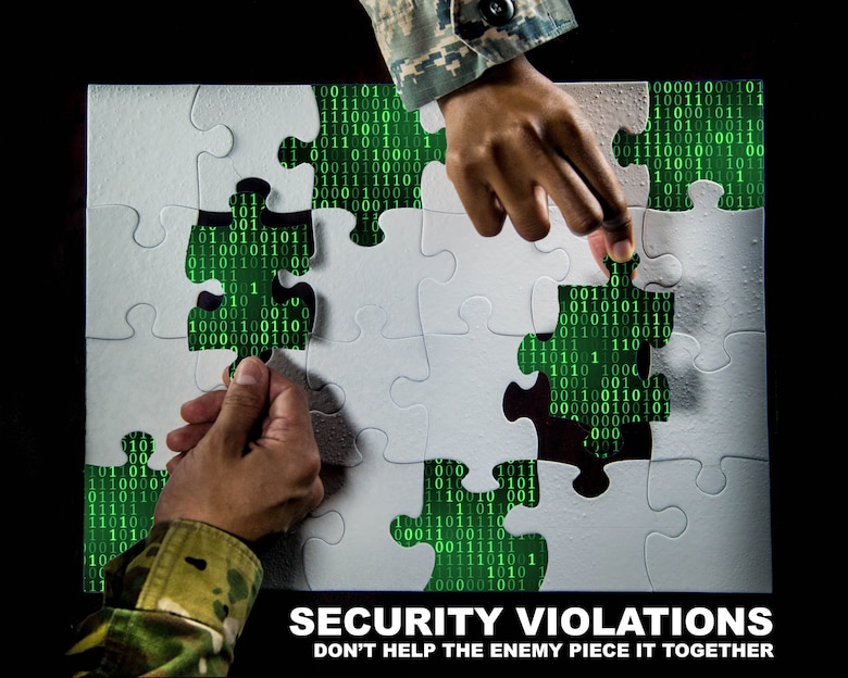 In a memo written June 21, 2018 to all Department of Defense employees, Mattis urged all to remain vigilant when safeguarding sensitive information. Air Force Instructions, DoD Manuals, online training modules and many other sources help guide personnel to be the best both safely and legally. (U.S. Air Force graphic by Senior Airman Ericha Guyote)