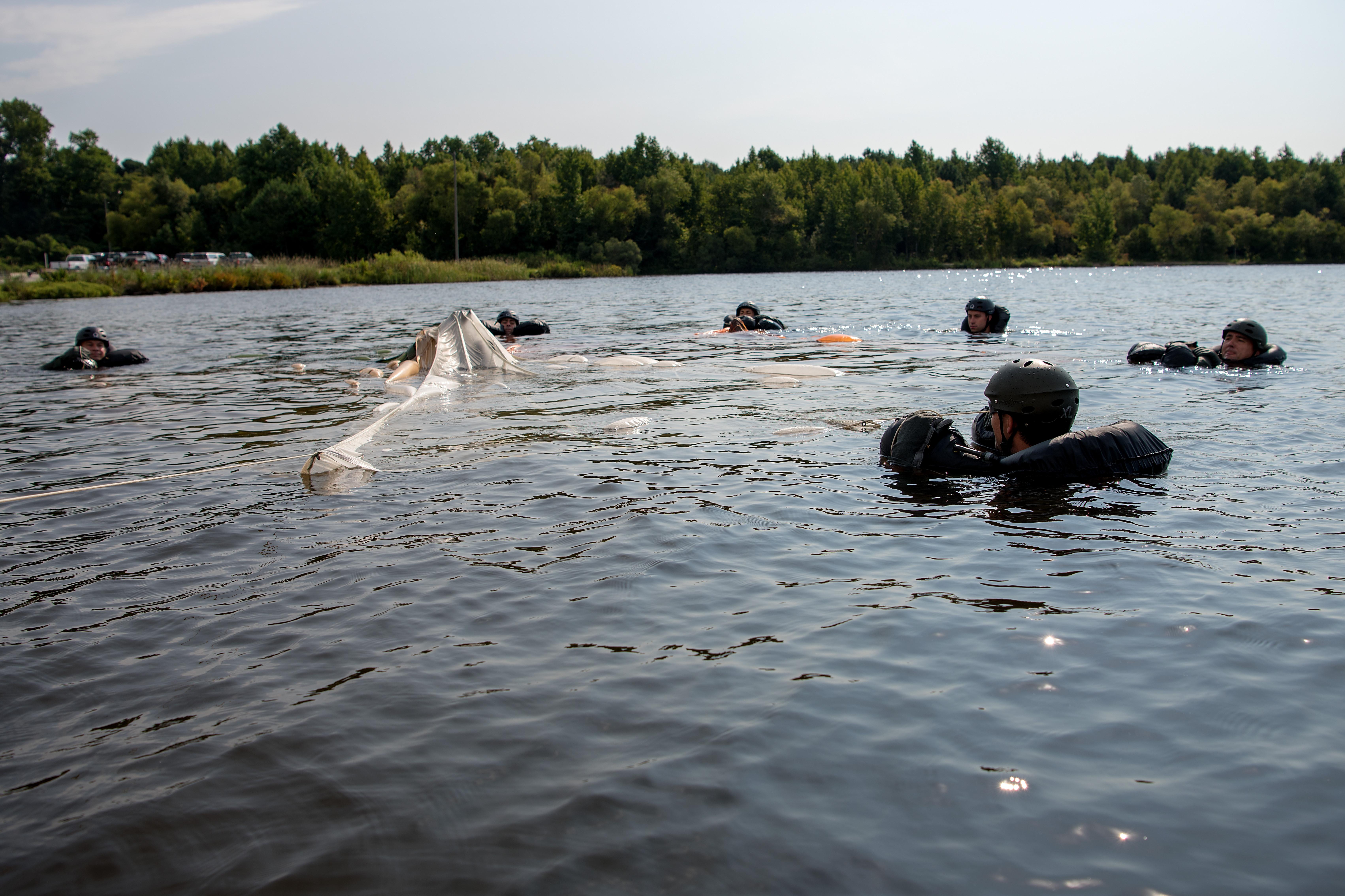 Sink or swim water survival training seymour johnson - Seymour johnson afb swimming pool ...