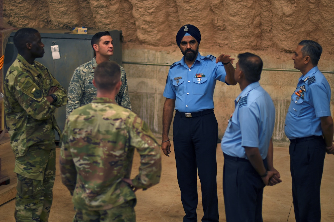 American and Indian airmen learn from each other on Andersen Air Force Base, Guam.