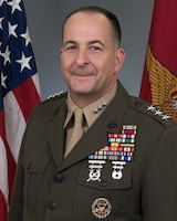 U.S. Marine Corps Lt. Gen. Daniel J. O'Donohue, Director for Joint Force Development, Joint Staff J-7, poses for an official portrait.