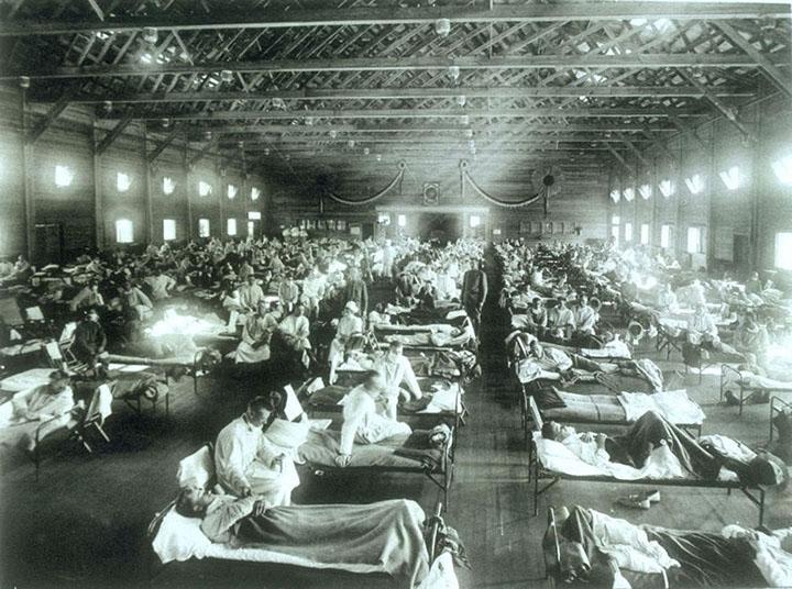 spanish flu - second on the deadliest list of epidemics