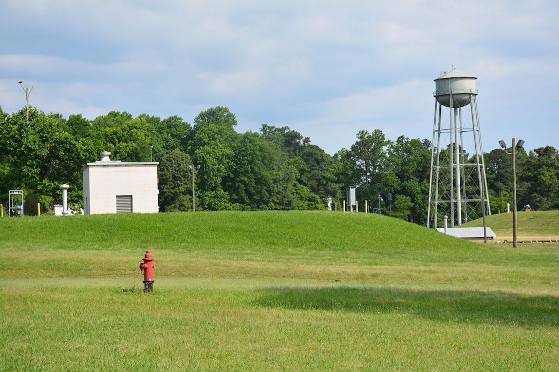 The historic Defense Fuel Support Point Yorktown fuel terminal in Virginia has 10 underground tanks used to store F24 and JP8 jet fuel. The cut-and-cover tanks, built in 1953, were demolished in 2015 along with the removal of pier piping and equipment. Soil testing and surveys will be conducted at DFSP Yorktown to prepare the land for future use.
