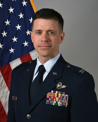Official portrait of Col. Mitchell R. Johnson, the 119th Wing vice-commander.