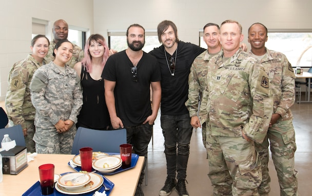 The Sick Puppies performed for JTF GTMO Troopers and Naval Station Guantanamo Bay residents, Aug. 28, as part of a three-day tour hosted by Morale, Welfare & Recreation Guantanamo Bay.