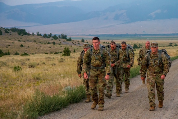 U.S. Army Reserve Best Warriors and Drill Sergeants of the Year Participate in a Foot March