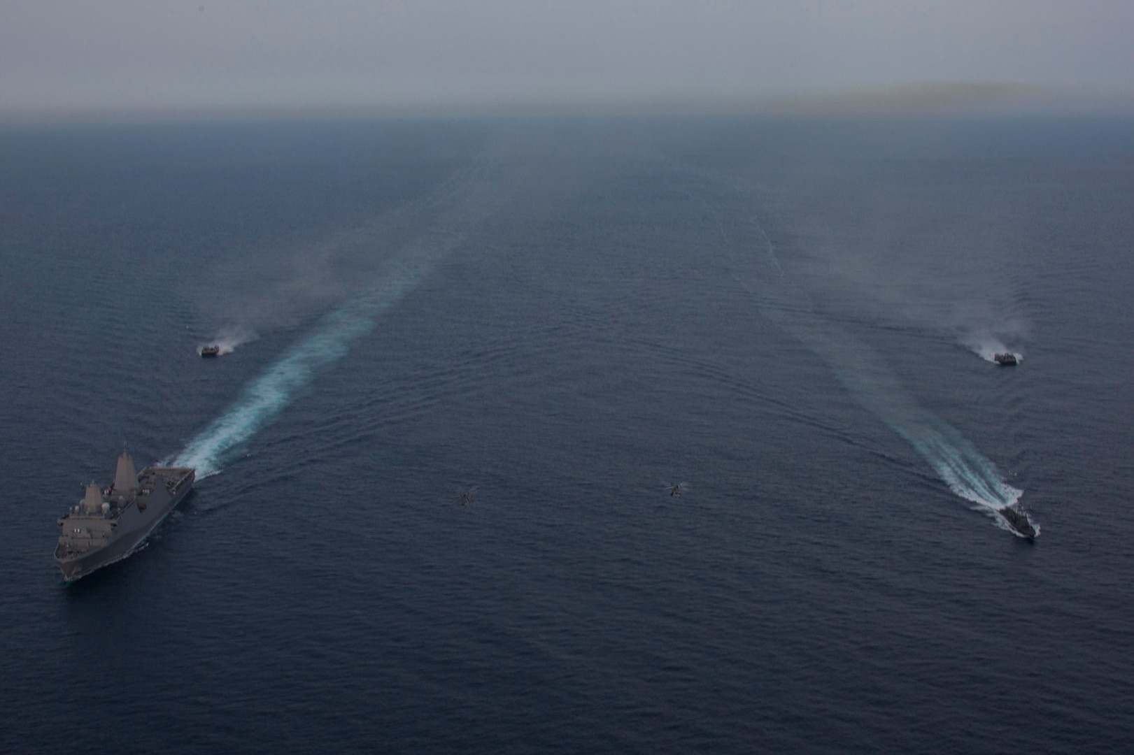 USS Anchorage conducts at-sea exercise with Sri Lanka Navy