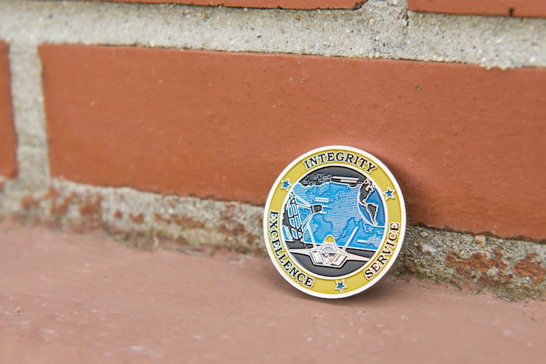 Airman's design selected for 192nd Fighter Wing commander's coin.