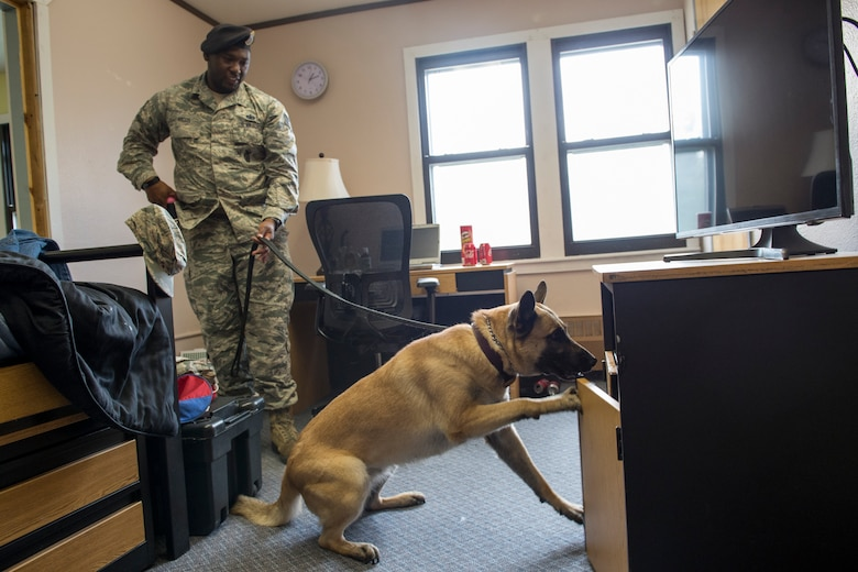 Two mock drug rooms were set up at the Army Substance Abuse and Prevention office at JBER to educate parents and noncommissioned officers on the warning signs of alcohol and drug abuse. The rooms are also used for proficiency training by Security Forces Squadron military working dogs, the Air Force Office of Special Investigations and the Army Criminal Investigation Division.