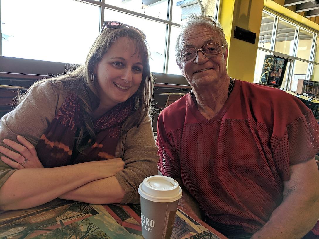 Jim and Nicole with coffee