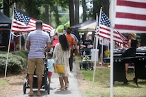 Service members, their families and members of the local community attended a military appreciation day aboard Laurel Bay, Aug. 25. The Beaufort Chamber of Commerce