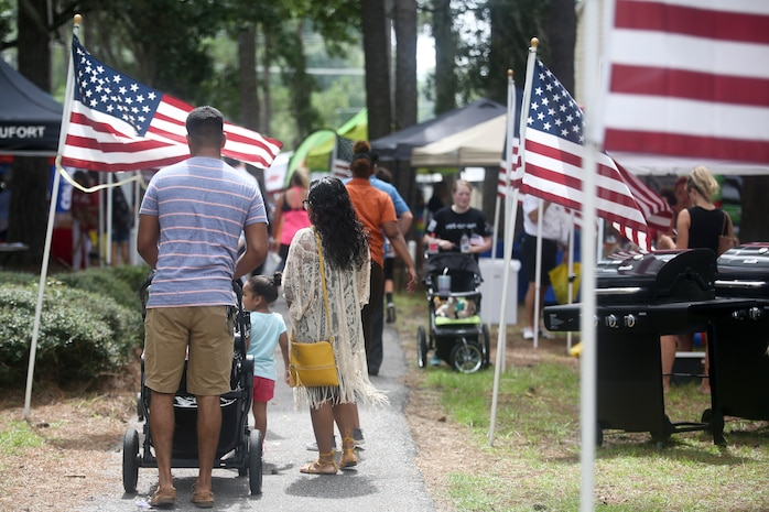 Service members, their families and members of the local community attended a military appreciation day aboard Laurel Bay, Aug. 25. The Beaufort Chamber of Commerce organized the event to thank the local members of the military for their service.