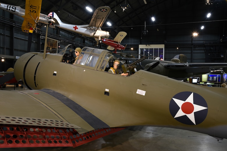 DAYTON, Ohio -- Douglas A-24 in the WWII Gallery at the National Museum of the United States Air Force. (U.S. Air Force photo by Ken LaRock)