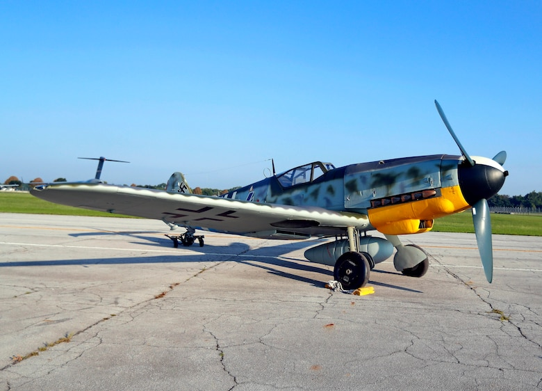 DAYTON, Ohio -- Messerschmitt Bf 109G-10 at the National Museum of the United States Air Force. (Courtesy photo by Don Popp)