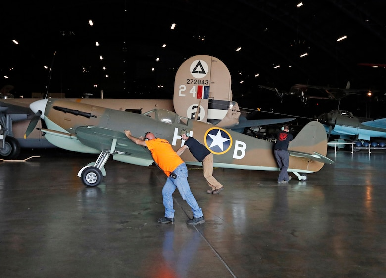 DAYTON, Ohio -- Supermarine Spitfire Mk. Vc in the WWII Gallery at the National Museum of the United States Air Force. (Courtesy photo by Don Popp)