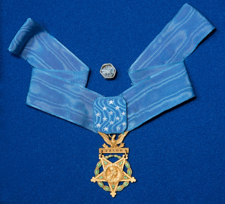 DAYTON, Ohio -- Capt. Eddie Rickenbacker Medal of Honor. (U.S. Air Force photo by Ken LaRock)