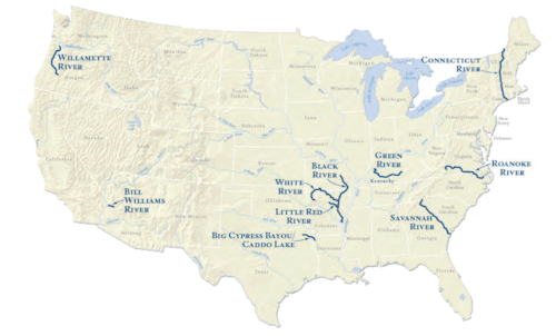 The Sustainable Rivers Program has projects across the United States.