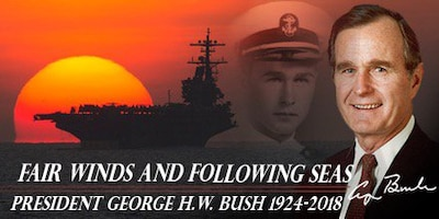 The Navy's tribute to former President George H.W. Bush on his passing, Nov. 30, 2018.